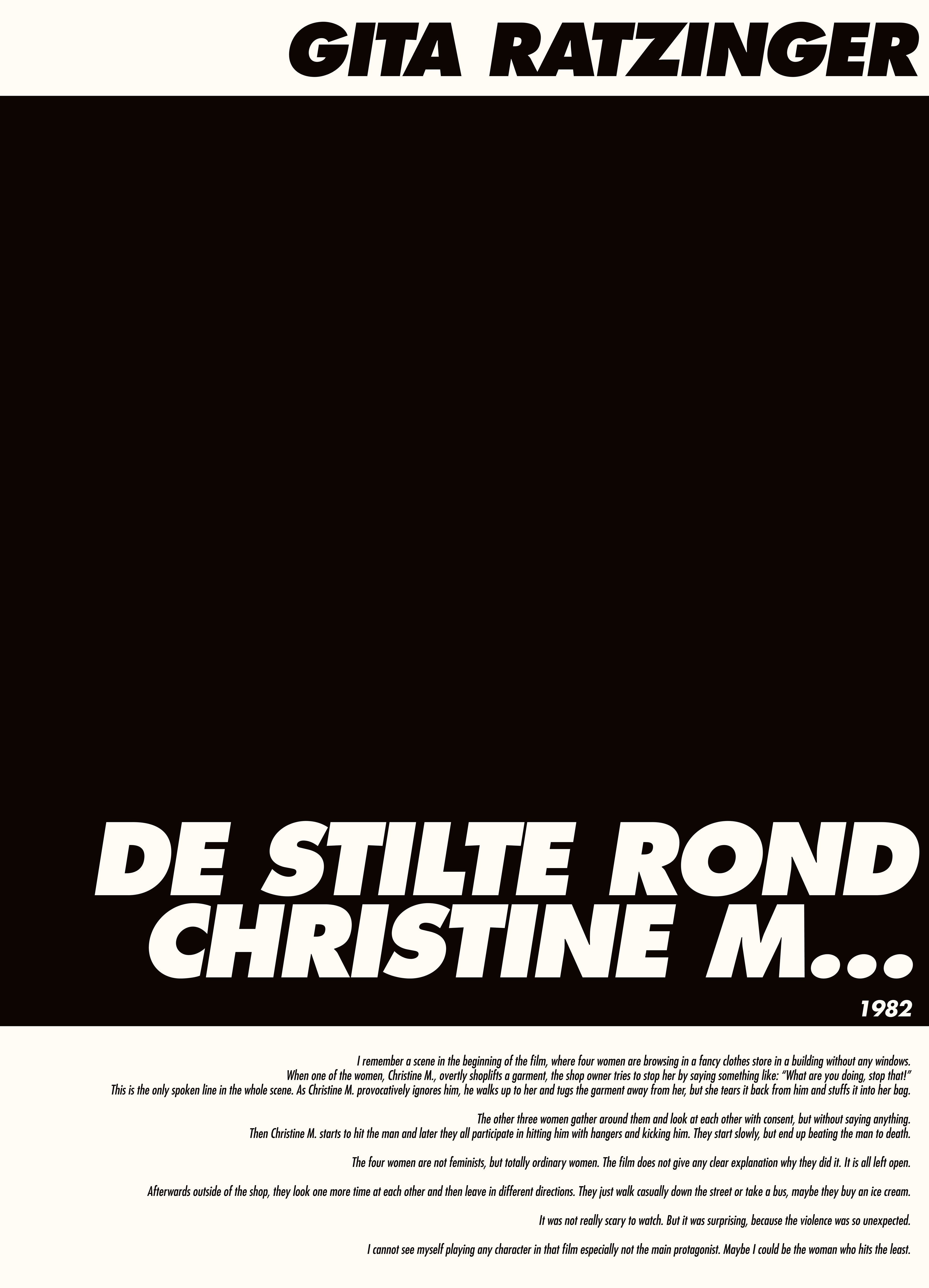 De Stilte Rond- Christine M.